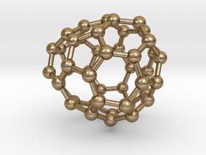 0680 Fullerene c44-52 c1 in Polished Gold Steel
