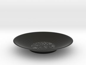 plate in Black Natural Versatile Plastic: Small