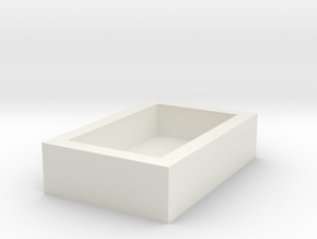 13x8mm Speaker Resonance Box in White Natural Versatile Plastic