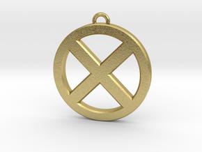 Keychain - Necklace - Xmen in Natural Brass