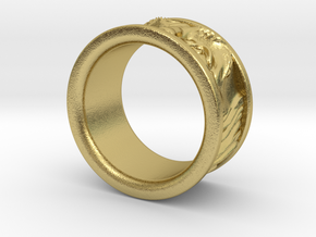 Franklin Ring in Natural Brass: 5 / 49