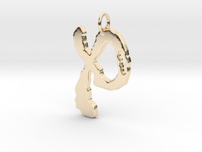 Ring 22 Pendant in 14K Yellow Gold