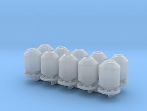 10 silencers_typ2, 10 Schalldämpfer in Smooth Fine Detail Plastic: 1:50