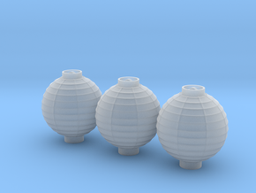 1/25th Chinese Lanterns 17mm Dia. x3 in Smooth Fine Detail Plastic