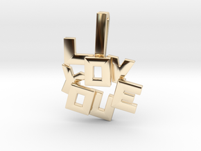 """I LOVE YOU"" Pendant in 14K Yellow Gold"