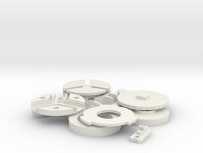 miniature holder - all sizes handle in White Natural Versatile Plastic