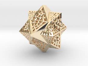 Tetra Cube octa Family Compound in 14k Gold Plated Brass