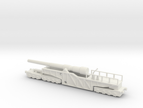 12 inch gun mk 9 railway artillery 1/100 in White Natural Versatile Plastic