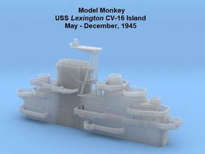 1/200 USS Lexington CV-16 Island, May-Dec. 1945 in Smooth Fine Detail Plastic