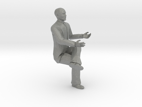 S Scale bald sitting man 2 in Gray PA12