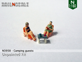 Camping guests and accessories - kit A (N 1:160) in Smoothest Fine Detail Plastic