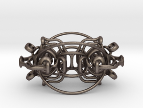 Rotating Blackhole Vajra glossy color in Polished Bronzed-Silver Steel