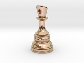 Ferz-Rider (Bishop) - [1,1] Classic in 14k Rose Gold Plated Brass