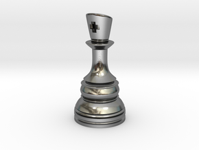 Ferz-Rider (Bishop) - [1,1] Classic in Polished Silver