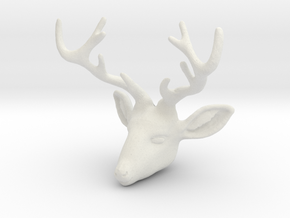Deer V2-A in White Natural Versatile Plastic