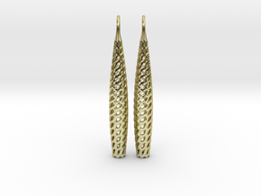 D-STRUCTURA Line Earrings. Structured Chic. in 18k Gold Plated Brass