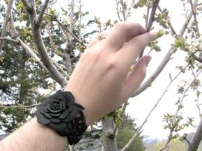 Rose Bracelet in Black Strong & Flexible
