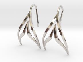 sWINGS Sharp Earrings in Platinum