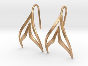sWINGS Sharp Earrings in Natural Bronze