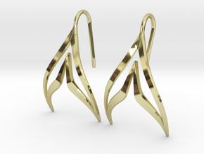 sWINGS Sharp Earrings in 18k Gold Plated Brass
