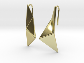sWINGS Origami Earrings in 18k Gold Plated Brass