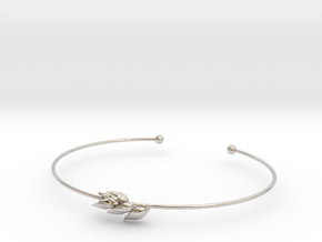Wheat bracelet in Rhodium Plated Brass