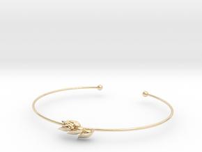 Wheat bracelet in 14k Gold Plated Brass