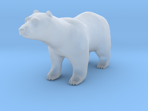 S Scale Polar Bear in Smooth Fine Detail Plastic