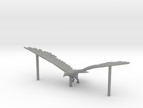 HO Scale Eagle with supports in Gray Professional Plastic