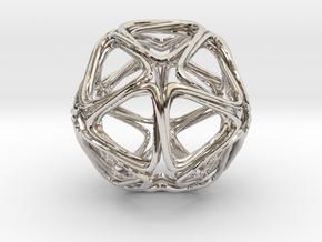 Icosahedron Looped in Platinum