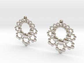D Apo. Earrings in Platinum