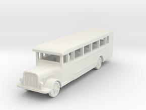 Saurer polish 1939 bus 1:87 in White Natural Versatile Plastic