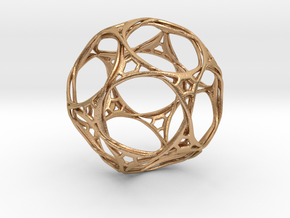 Looped docecahedron in Natural Bronze
