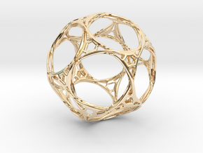 Looped docecahedron in 14k Gold Plated Brass