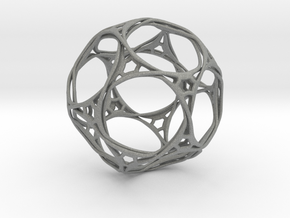 Looped docecahedron in Gray Professional Plastic