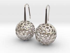 HONEYCANE Earrings in Platinum