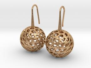 HONEYCANE Earrings in Natural Bronze