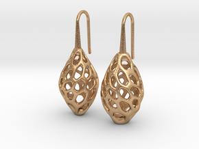 HONEYBIT Twist Earrings in Natural Bronze