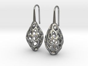 HONEYBIT Twist Earrings in Natural Silver