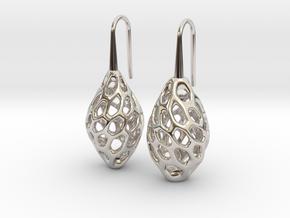 HONEYBIT Twist Earrings in Rhodium Plated Brass
