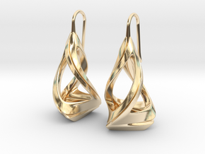 Trianon T.1, Earrings in 14K Yellow Gold