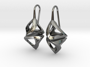 Trianon Twist, Earrings in Fine Detail Polished Silver