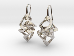 Trianon Twins, Earrings in Rhodium Plated Brass