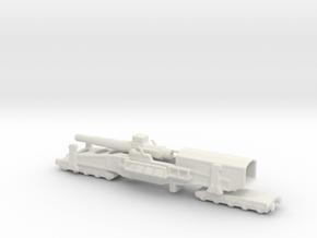 28 cm SKL / 40 (E) Railway artillery Bruno 1/160  in White Natural Versatile Plastic