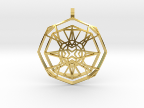 Metatron's Fire-Star (Domed) in Polished Brass