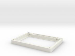 "Matrix Orbital 5.0"" Smooth Bezel Mount (Rev1.0) in White Natural Versatile Plastic"
