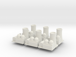 Nuclear Facility x6 in White Natural Versatile Plastic
