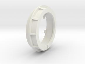 wheelZClampV6 in White Natural Versatile Plastic