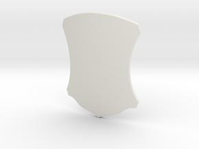 Elegant Shield (Plain) in White Natural Versatile Plastic: Small