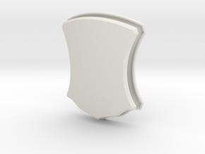 Elegant Shield (Framed) in White Natural Versatile Plastic: Small